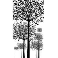 Quality Waterproof Bamboo Fiber Wall Panels Decorative Interior Black White Tree for sale