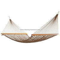Buy cheap Portable Folding Outdoor Rope Hammock Double Hanging Tree Spreader Bars Antique Brown from Wholesalers