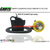Buy cheap Lightweight LED Miners Cap Lamp 10000lux 7.8Ah Lithium Ion With Silicon Button Cap from Wholesalers