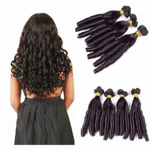 China Indian Funmi Human Hair Spring Curly Virgin Hair Weave Natural Color Hair Extensions Funmi Egg Curls factory