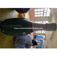 China Promotional Pvc Inflatable Champagne Bottle / Inflatable Beer Bottle For Sale factory