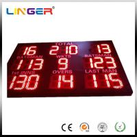 China Bright Red Color Mini Cricket Scoreboard With 12 Inch Digitits For Outside Usage factory