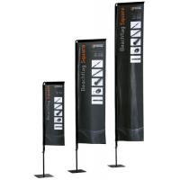 Buy cheap 2.7 - 4.3m Rectangular Beach Flag Banner With Fibreglass Rods / Carry Bag from Wholesalers