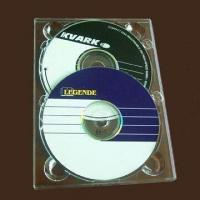 Transparent Double DVD Digi Tray, Made of PS Material, Holds Two CDs