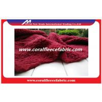 China Red / Green Polyester Fade Lambswool Faux / Fade Fur Fabric for Blanket or Home Beddings factory