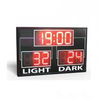 China Simple Use Standard Electronic Led Basketball Scoreboard In Red Colour factory