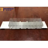 Buy cheap Quick 6063-T5 Anodized Silver / Black Electronic Industry Extruded Heatsink Profile India Aluminium Extrusion Profiles from Wholesalers