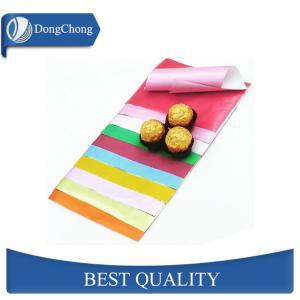 China 8011 Chocolate Food Grade Aluminium Foil / Coloured Aluminium Foil Candy Wrapper factory