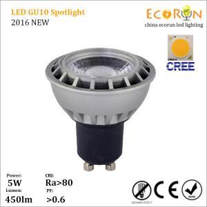 China 2016 hot sale factory led gu10 lamp 5w 7w cree cob led spot light gu10 warm white on sale