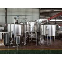 China 3000 L Craft Beer Brewing Equipment With Brushed Stainless Steel Surface factory
