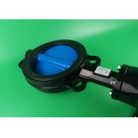 Buy cheap Modulatig On Off Wafer Style Butterfly Valve  DN50 DN65 DN80 Black High Torque from Wholesalers