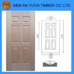 Buy cheap new design decorative interior HDF wood white primer veneer door s Manufacturer direct supply melamine door skin from Wholesalers