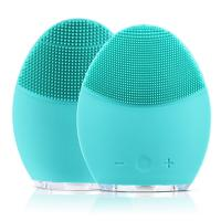 China Electric Rechargeable Silicone Facial Cleanser Brush Vibration Massage Multi-Functional Beauty Equipment factory