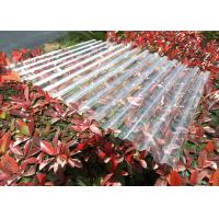 Buy cheap Clear Plastic Corrugated Polycarbonate Sheets 0.8 Mm-3.0mm Weather Resistance from wholesalers