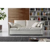 Quality White Fabric Modern Fabric Sofas With Solid Wood Frame , Soft Seat Sofa Set ...