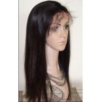 Buy cheap High Quality Half Hand Tied Indian Remy Hair Glueless Lace Front Wig With Baby Hair from Wholesalers