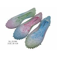 China fashion colourful pvc slippers crystal pvc jelly footwear for women straw mat spa slippers factory