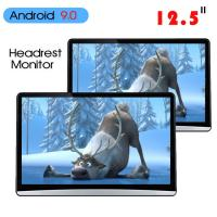 China 1920*1080 Car Headrest Monitor Hdmi Android 9.0 2 16g 12.5 Inch ABS Shell factory