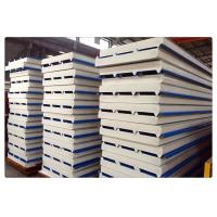 Quality Fireproof Color Coated Steel PU Sandwich Panel / Insulation Wall Panels for sale