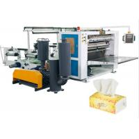 Buy cheap Vacuum Tissue Paper Making Machine , V - Fold Facial Tissue Folding Machine from Wholesalers