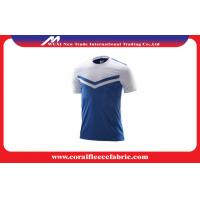 China Polo Style Plain Custom Soccer Jerseys , Plus Size Polyester Youth Soccer Uniform factory