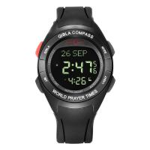 Quality wholesale automatic arabic azan prayer watch muslim wriste sport azan  compass sport lcd watch wholesale