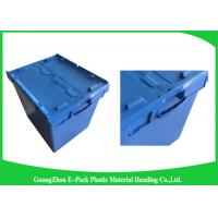 Buy cheap Moving Crate Plastic Attached Lid Containers for Tool , Easy To Clean 75*57*62.5CM from Wholesalers