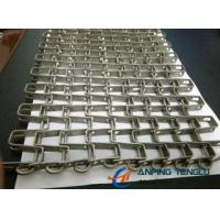 China Stainless Steel Horseshoe Mesh Conveyor Belt, for Heavy Goods Conveyor factory