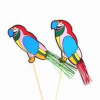 Buy cheap Parrots, Made of Paper with Foil Tail Pick, Suitable for Cake or Ice-cream Decorations from Wholesalers