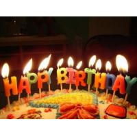 China Glitter Letter Birthday Candles For Cake Decoration Food Grade OEM / ODM Service on sale