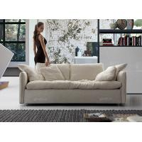 ... Quality White Fabric Modern Fabric Sofas With Solid Wood Frame , Soft Seat Sofa Set ...