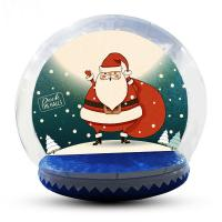 China Advertising Custom Christmas Blow Up Snow Globe Double And Quadruple Stitched factory