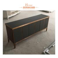 Buy cheap Black Modern Console Table With Storage Drawers And Shelf , Cabinet from Wholesalers