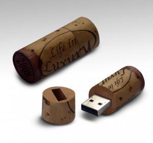 China Champagne cork USB flash drive factory