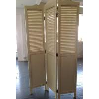 Foldable 3 Panels Wooden Decorative Screens Room Divider Partition Wall
