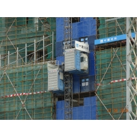 China Twin Cage Safety 450m Passenger Material Rack And Pinion Hoist factory