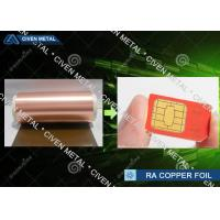 China 6μm Ultra Thin Copper Foil Roll RA , Decorative Copper Foil shielding factory