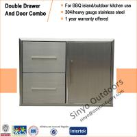 Buy cheap BBQ island component built-in stainless double drawer and door combo from Wholesalers