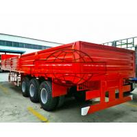 China Side Wall Flatbed Container Semi Trailer 12.00R20 Tire Model ISO9001 Approval on sale