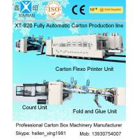 Quality Carton Manufacturing Machine Flexo Printer Slotter Die Cutter With Folder Gluer for sale