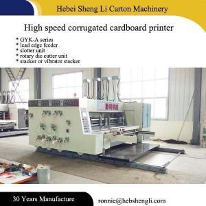 China Automatic Feeder Flexo Printing Machine , High Speed Carton Box Machine on sale