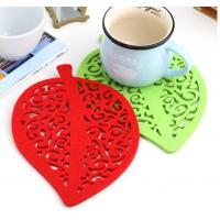 China Promotional gift cup mat cup pvc mat table protector heat resistant silicone mat beer mat factory