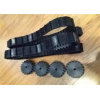 China 54 Links Robot Rubber Tracks 1026mm Length With Good Tensile Strength factory