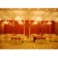 Buy cheap Red Sliding Folding Partitions Movable Walls For Exhibition Place from Wholesalers