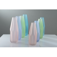 China Handmade Glass Vase With  Individual Packing factory