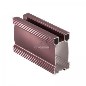 China Thrills Glaze 6000 Series Wardrobe Aluminum Profile / Aluminum Profile For Kitchen Cabinet factory