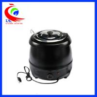 China Black electric keep warm buffet soup warmer pot inside with stainless steel material factory