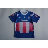 Buy cheap Sublimation Mesh Dry Fit O Neck Kids Soccer Jersey With Blue Color from Wholesalers