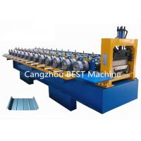 China Standing Seam Steet Boltless Roof Panel Roll Forming Machine Hydraulic Cutting Type on sale