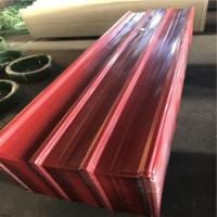 China HF-003 bordeaux color corrugated roofing sheet with the thickness 0.15-1.2mm factory